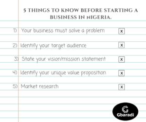 5 things to know before starting a business in Nigeria 2017